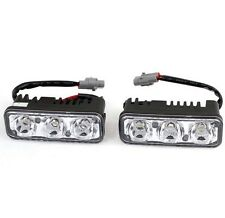 2x Car SUV 3LED White Daytime Running Fog Light DRL & Amber Turn Signal Lamp 12V