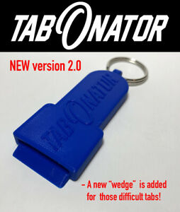 TabONator (2 PACK) UPDATED -Tab Top Can Opener Soda Pop Beer Beverage