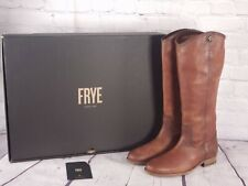 Frye Leather Tall Shaft Boots Melissa Button2 - Cognac Brown