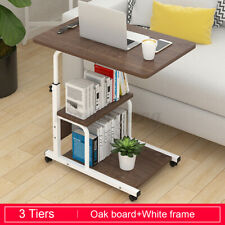Adjustable Wooden Computer Laptop Desk Table Over Bed Stand Rolling Home Office