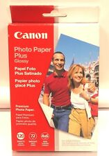 Canon Photo Paper Plus Glossy 120 Sheets 4 x 6 Inch Size New Sealed Premium
