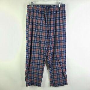 Nautica Sleepwear Soft 100% Cotton Plaid Pajama Pants Size M