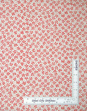 Floral Fabric - Red Flowers on Cream P&B Textiles Sketchbook Collection - Yard