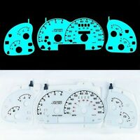 INDIGLO GLOW GAUGE DASH WHITE FACE EL CLUSTER FOR Ford Ranger W/Tach 95-01