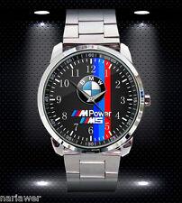 NEW BMW M POWER M5 SPORT CAR Mens Watch Stainless Steel Sport Metal Watch