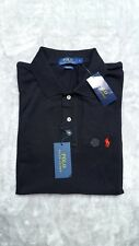 Ralph Lauren da uomo nera Custom Fit Manica Corta Polo T-Shirt Medium M