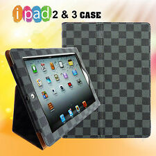 iPad 2 or 3 Case Stylish Leather Case Smart Cover Stand for iPad 2 or iPad 3