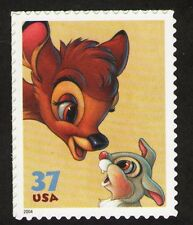 Us. 3866. 37c. Bambi, Thumper. The Art of Disney: Friendship. Mnh. 2004