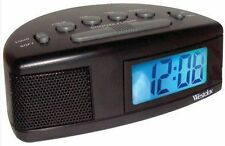Westclox Digital LCD Alarm Clock Battery Operated Loud or Soft Adjustable Volume