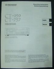Manuale per tape deck PIONEER ct-959, ct-757 operating instructions