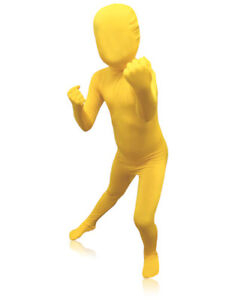 KIDS ZENTAI SUIT - FULL BODY STRETCH FABRIC COSTUME - GREEN MAN SUIT - 3 SIZES