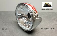 Headlight Universal Motorcycle round 200MM Chrome Window Smooth Ducati