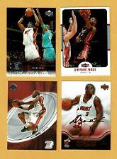 Dwyane Wade 4 card lot NM Fleer Upper Deck E-X
