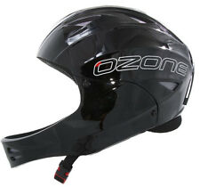 Ozone Nutshell Helmet Black with Chin Guard for Paragliding, Hang Gliding & more