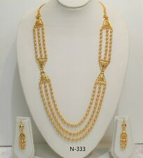 Indian Fashion Necklace Set Gold Plated Wedding Bridal Designer New Jewellery