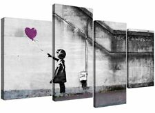 Banksy Canvas Purple Art Prints