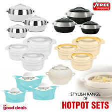 3Pc/5Pc Casserole Pan Insulated Cold Warm Food Serving Dish Bowl Thermal Hotpot