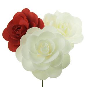 Rose Foam Flower With Stem Wedding Decor
