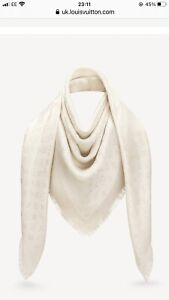 Louis Vuitton Shine Shawl In White