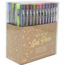 Gel Pens Set of 60 Acid-Free & Non-Toxic