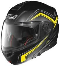 NOLAN N104 ABSOLUTE 051 COME Nero/GIALLO CASCO MOTO A FLIP - XXXL