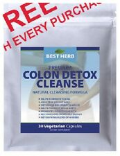 30 PACKET OF COLON DETOX CLEANSE NATURAL CLEANSING FORMULA SUPPLEMENT 30 CAPSULE