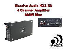 4 Channel Amplifier Massive NX4 1600W Max Nano Block Series 4-Channel Amplifier