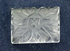 20x15 Rectangle Crystal Quartz Floral Carved Carving Cabochon Cab Gemstone B21A8