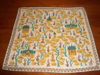 Vintage Tammis Keefe Oriental Beauty Hanky Handkerchief Hankies