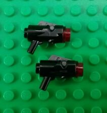 *NEW* Lego Star Wars Black Blasters Spring loaded Guns Figures Figs - 2 pieces
