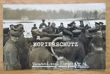 Altes Foto verwundete englischer Flieger / Piloten 09.03.1916