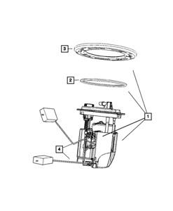 Genuine MOPAR Fuel Pump/Level Unit Module Kit 5183202AE