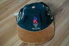 VINTAGE ATLANTA 1996 OLYMPICS GAMES LOGO SNAPBACK HAT CAP GREEN RETRO 90s RARE