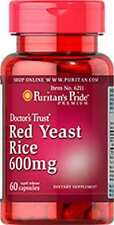 RED LIEVITO DI RISO 600 mg x 60 Capsule Puritan's Pride ** INCREDIBILE PREZZO **