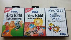 Sega Master System Alex Kidd In Miracle World High Tech Shinobi OVP