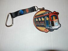 SF GIANTS AT&T PARK CABLE CAR PATCH SGA 2017 KEYCHAIN LANYARD NEW