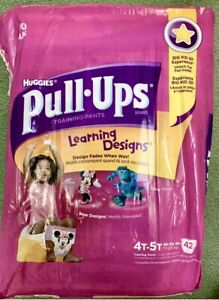 Vintage 4 CT Huggies Pull-Ups Girls 4-5T Training Pants Diapers 2013 Designs New