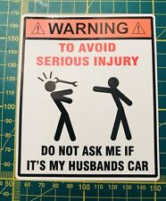 Vinyl Printed Car Vehicle Sticker Graphic Funny,Custom,Wife Husband Slap