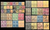 WASHINGTON BICENTENNIAL ISSUE SC# 704-715 USA Stamps Postage Collection Used MLH