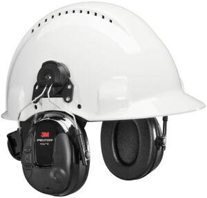 3M Peltor ProTac 3 Slim MT13H220P3E Helmet Mount Headset 25dB Black Free UK Ship