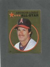 1982 O-Pee-Chee Baseball Sticker Rick Burleson #134 All-Star Foil Angels *MINT