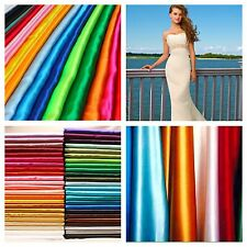 "Real Heavy Shiny Bridal Satin Fabric 100% Polyester 60"" Wide Wedding Dress"