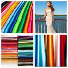 "Real Heavy Shiny Bridal Satin Fabric 100% Polyester 60"" Wide Wedding Dress"