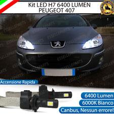 KIT LAMPADE ABBAGLIANTI LED PEUGEOT 407 LED H7 6000K 6400 LUMEN CANBUS
