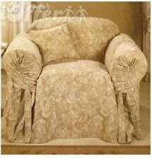 NEW! Chair SLIPCOVER Surefit Diana Linen Rose pattern