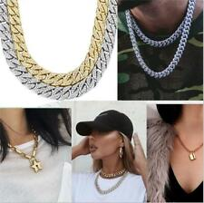 HipHop Bling Chain Iced Out Simulated Diamond/Zircon Thick Miami Cuban Necklace