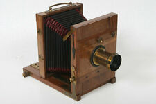Antique Tailboard camera Plate View Camera w/ lens Wood, Brass, antique, bellows
