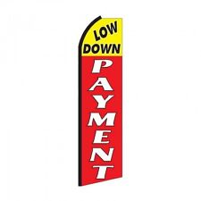 Down Payment Banner Flag Sign Only Flutter Swooper Advertising 3' Wide Low