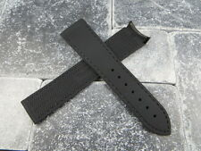 New OMEGA 22mm Rubber Strap Diver Watch Band Black with Black 22 mm Curve Edge