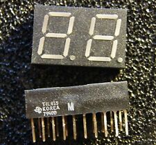 2x TIL815 2-Digit 7-Segment Display, Texas Instruments